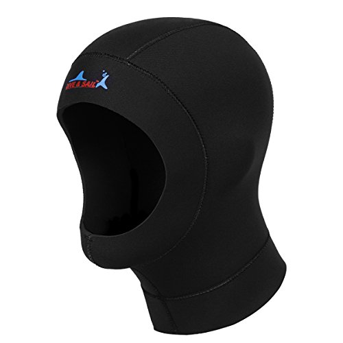 Antcher Dive Hood 3mm Neoprene Warm Wetsuit Cap Hood Hat for Underwater Scuba Diving Snorkeling Surfing Winter Swimming Spearfishing from Antcher