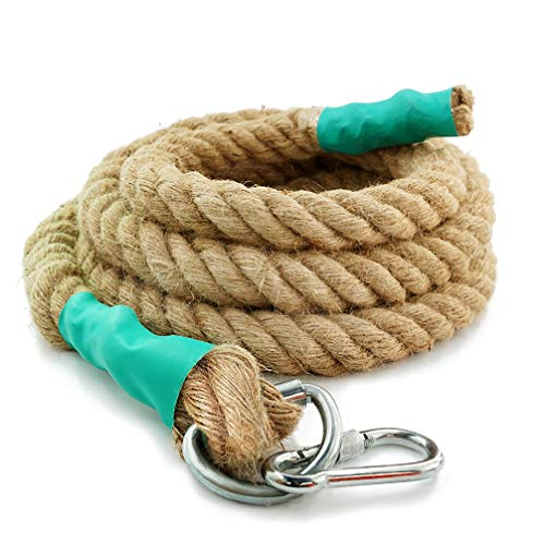 Aoneky Gym Climbing Ropes with Clip for Training, Fitness, Strengthen Muscle Power, Battle, Exercise, Extra Thick 30mm, 40mm Diameter (40mm × 13 Ft) from Aoneky