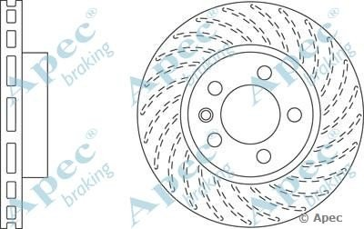APEC DSK2308 Single Brake Disc from AUTOMOTIVE POWER EQUIPMENT CO