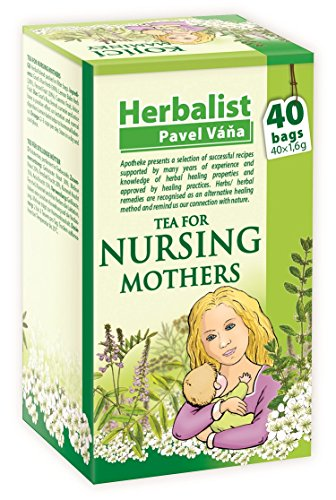 Herbal Nursing Tea for Breastfeeding Mothers stimulating Mother's Milk 40 Tea Bags by Apotheke Pavel Vana (Pack of 1) from Apotheke
