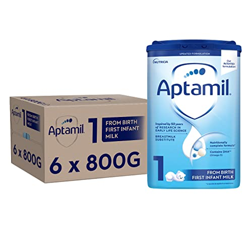 Aptamil First Infant Milk Stage 1 from Birth, 800 g, Pack of 6 from Aptamil