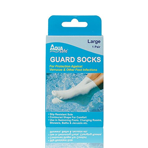 AquaSafe Verruca Guard Socks for Swimming - Large - Size 5.5 - 8 from AquaSafe