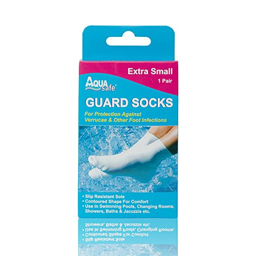 AquaSafe Verruca Guard Socks for Swimming - Extra Small - Child Size 9-12 from AquaSafe