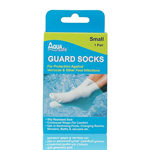 AquaSafe Verruca Guard Socks for Swimming - Small - Child Size 12.5 - Adult 2 from AquaSafe