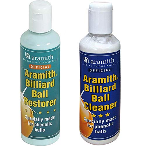 Aramith Billiard Ball Restore Tied To Aramith Billiard Ball Cleaner, Pair Liquid Detergents for bilie fenoliche for Pool. Bottles Of 250 ml. from Aramith the Belgian Billiard Balls