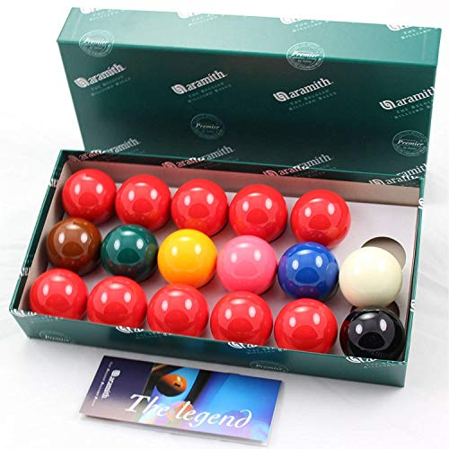 "Aramith 1 7/8"" (47.6mm) Premier Snooker Balls - 10 Red - 17 Balls from Aramith"