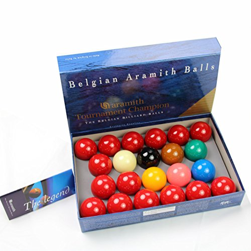"Aramith 2 1/16"" (52.4mm) Tournament Champion Full Size Snooker Ball Set - 22 Balls from Aramith"