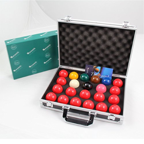 Aramith PREMIER 2 1/16 Inch 22 Snooker Ball Set & Sturdy Aluminium Carrying Case from Aramith