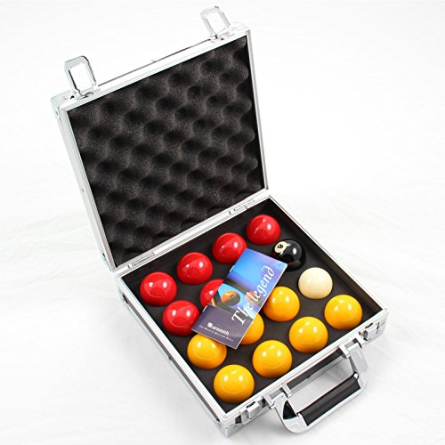 Aramith PREMIER Red & Yellow 2 Inch Pool Balls & Sturdy Carrying Case from Aramith