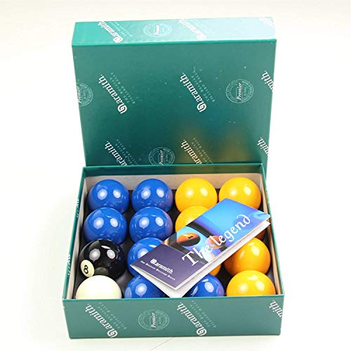Aramith Yellow and Blue 50.8 mm Billiard or Pool Balls from Aramith