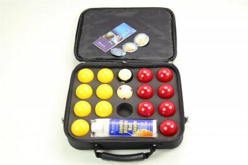 "SUPER ARAMITH PRO CUP 2"" Red & Yellow Pool Balls, Ball Cleaner & Case Set! from Aramith"