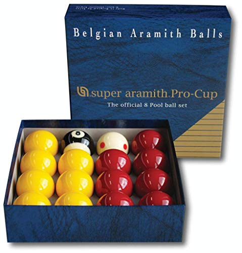 "Aramith Pro Cup Red and Yellow 2"" Inch Pool Ball Set - Tournament Quality Ball Set from Aramith"