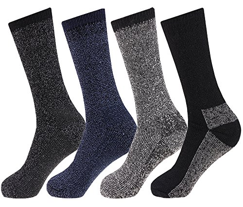 NEW 4 pairs Mens Arctic Comfort LONG Wool Mix Thermal Socks High Tog Rating UK 6-11 EUR 39-45 from Arctic Comfort