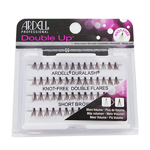 ARDELL Double Up Knot-Free Double Flares - Short Brown from Ardell