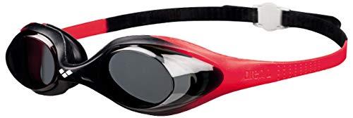 Arena Spider JR Child's Swimming Goggles, Children's, arena Kinder-Schwimmbrille Spider JR, Red/Smoke/Black, One Size from Arena