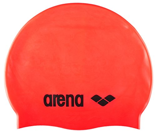 arena Adult Bathing cap Classic Silicone - Fluored/Black, one size from Arena