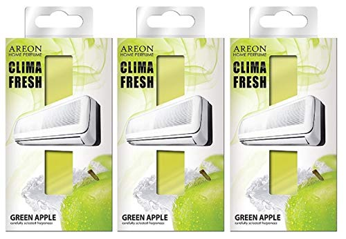 Areon Clima Air Freshener Home Conditioner Green Apple Multi Pack Set of 3 from Areon