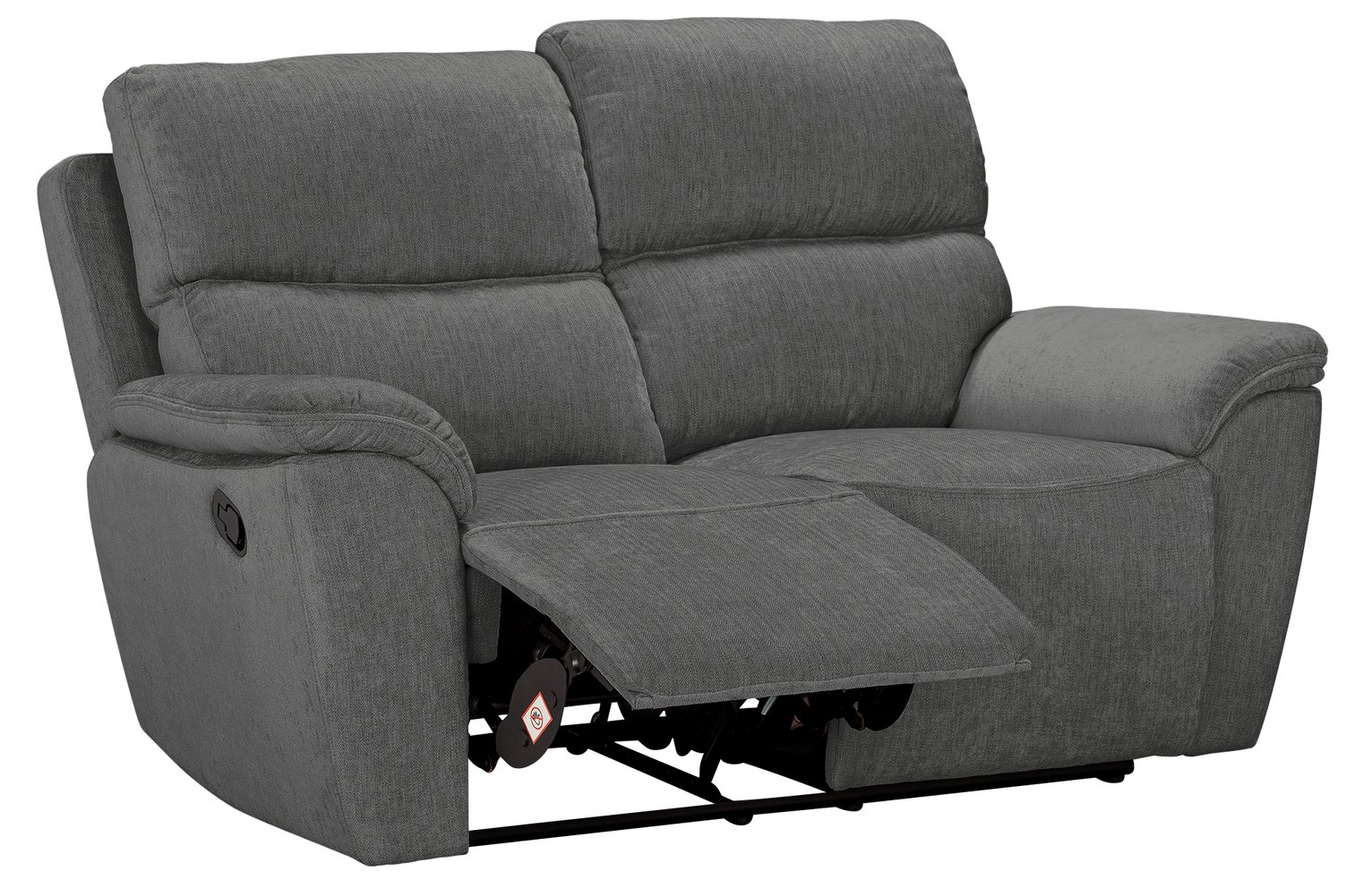 Argos Home Sandy 2 Seater Manual Recliner Sofa - Charcoal from Argos Home