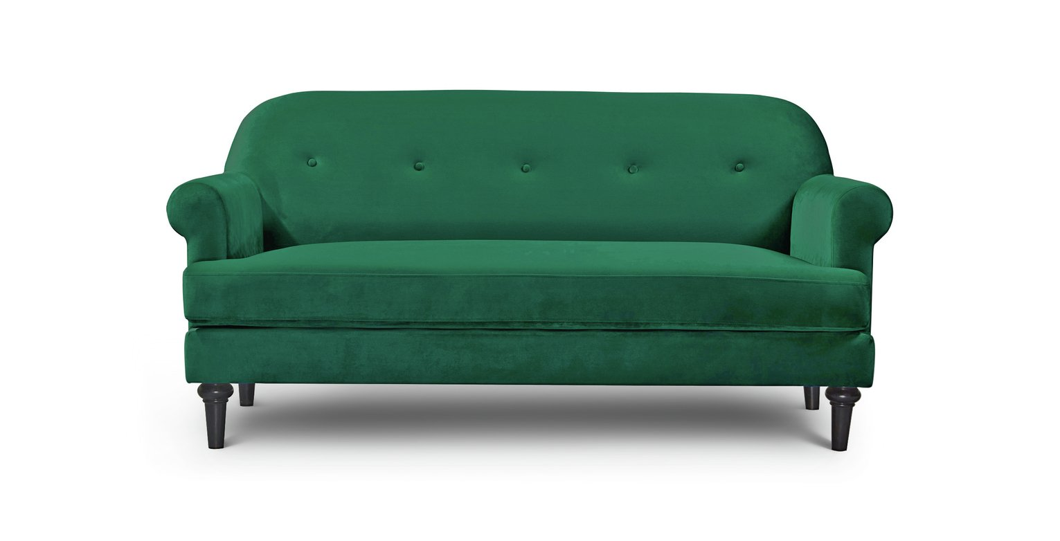 Argos Home Whitney 3 Seater Velvet Sofa - Green from Argos Home
