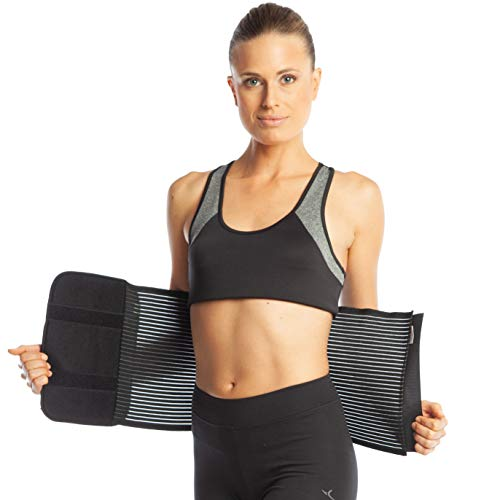 Armo Line Abdominal Binder Post Pregnancy Belly Wrap Postpartum Post-op Support (XL, Black) from ArmoLine