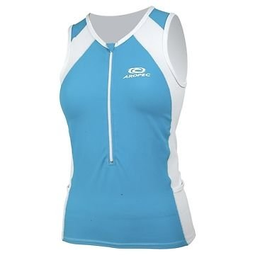 Aropec Triathlon Racing Lycra Lope Womens Top Running Swimming Cycling TQ/WT[L] from Aropec