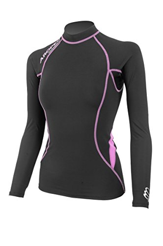 Aropec Ladies Compression Long Sleeve Top Triathlon Running Sports XS - XL [Black/Purple,L] from Aropec