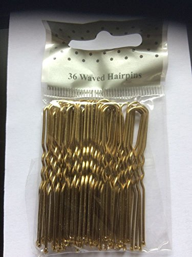 36 BLONDE WAVED HAIRPINS BOBBY PINS KIRBY GRIPS APPROX. 5CM IN LENGTH from Arranview Jewellery