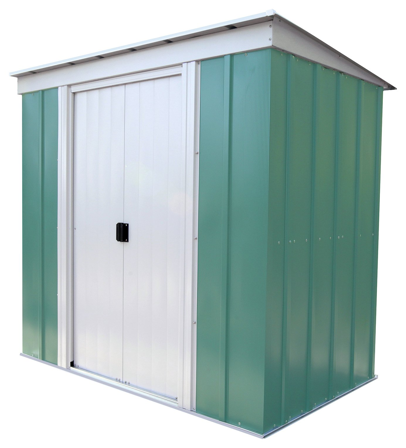 Arrow - Pent Metal Garden Shed - 6 x 4ft at Argos from Arrow