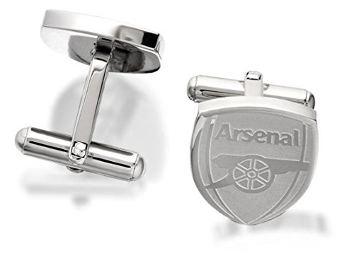 Arsenal FC Mens Jewellery Stainless Steel Shield Official Crest Swivel Cufflinks from Arsenal F.C.