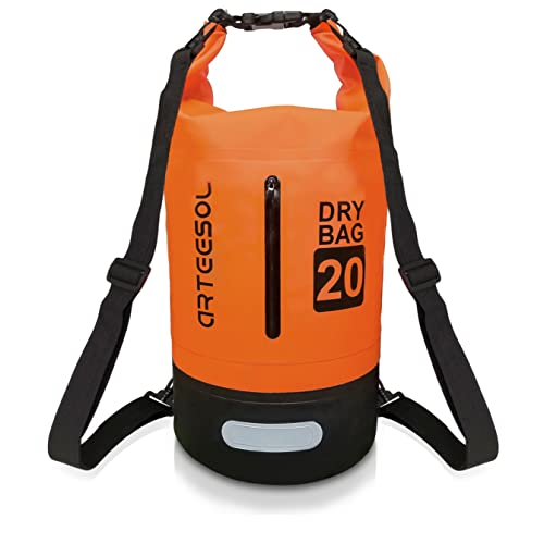 Arteesol Dry Bag, IP66 100% Waterproof Backpack Bag with Waist Strap for Beach Swim Kayaking Hiking - Protect Camera Cash Document From Water and Dirt from Arteesol