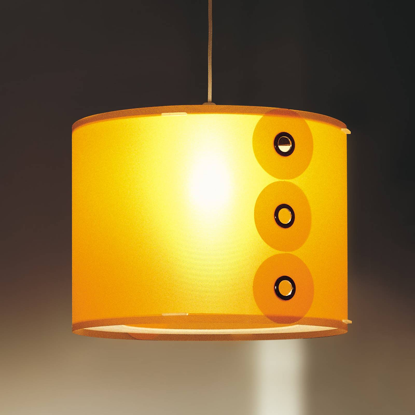 Orange pendant light Rotho from Artempo Italia
