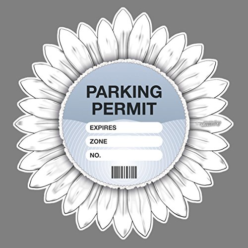 Parking Permit Holder Skin WHITE Flower Gerbera - Free Postage from Artisticky