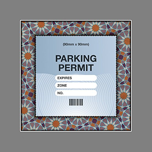 Parking Permit or Photo Holder Skin ISLAMIC GEOMETRIC PATTERN FRAME - Free Postage from Artisticky
