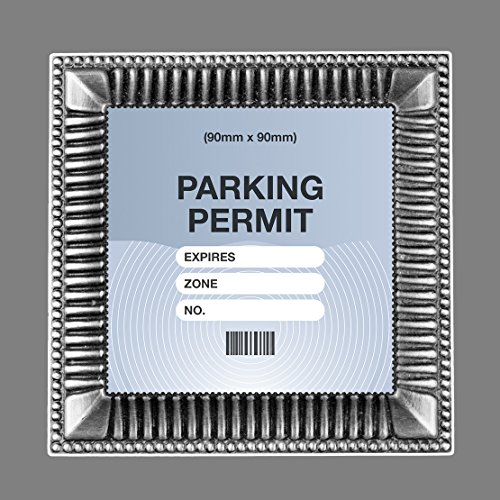Parking Permit or Photo Holder Skin SILVER GILT FRAME - Free Postage from Artisticky