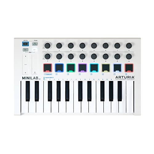Arturia 230501 MiniLab MkII 25 Note Controller Keyboard, White from Arturia