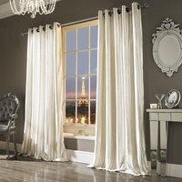 Iliana Ready Made Eyelet Curtains Oyster from Ashley Wilde