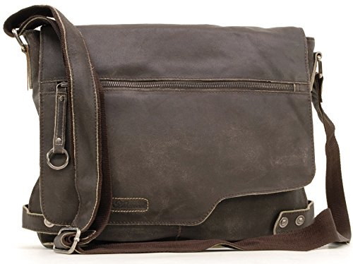 Ashwood Leather Messenger Bag - Camden - 8353 - Brown from Ashwood Leather