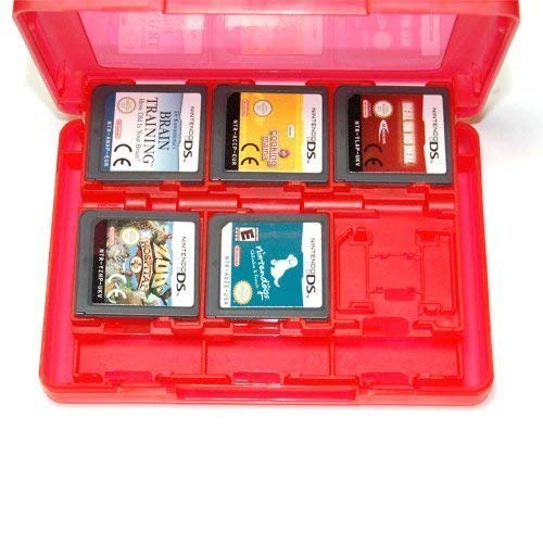 Assecure 3DS game card holder storage case (Red) 24 in 1 box for 3DS, 3DS XL, DSi, DSi XL, DS Lite & DS from Assecure