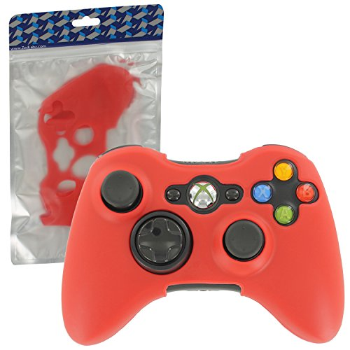 ZedLabz silicone cover for Microsoft Xbox 360 controller - protective skin rubber bumper case - red from Assecure