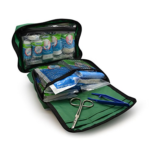 90 Piece Premium Kit Includes Eyewash, 2 x Cold (Ice) Packs and Emergency Blanket for Home, Office, Car, Caravan, Workplace, Travel - Astroplast First aid Kit Bag from Astroplast