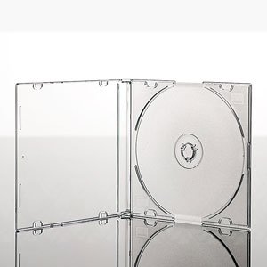 10 Single Slim Frosted Clear CD Jewel Blank Empty New Plastic Replacement Case / Cover for CDs from Atronica
