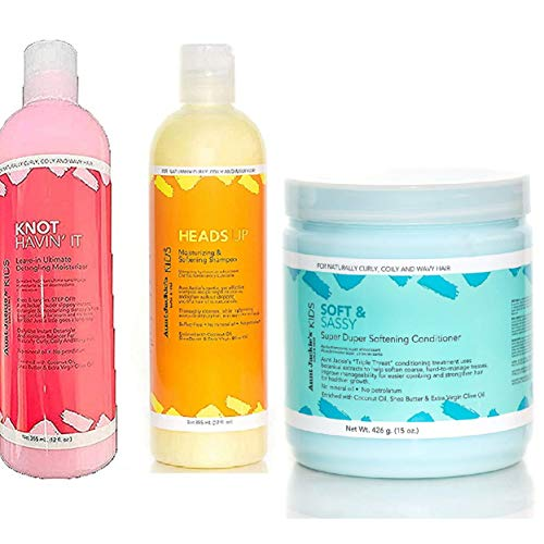 Aunt Jackies Girls! Cleanse, Condition & Moisturise Trio Set of Products for Girls with Fabulous Curls & Coils from Aunt Jackie's Girls