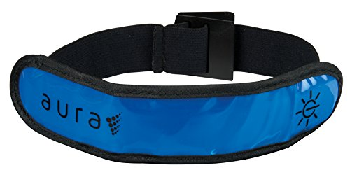 Aura Unisex's High Visibility LED Technology Running Armband, Offering Up To 60 Hours Of Battery Life, Keep Fit While Keeping Safe, Blue,One Size Fits All from Aura Active