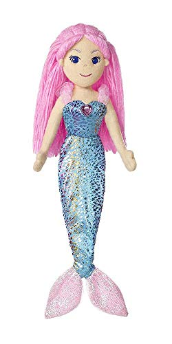 AURORA, 33068, Sea Sparkles Mermaid Nixie, 18In, Soft Toy, Blue and Pink from AURORA