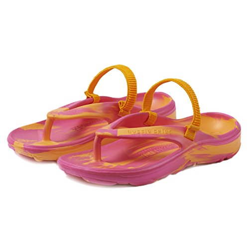 Aussie SolesTM StarfishTM Orthotic Flip Flops for Children - Unisex (29-30 / UK 11-12 - 180 mm, Orange/Fuchsia) from Aussie Soles
