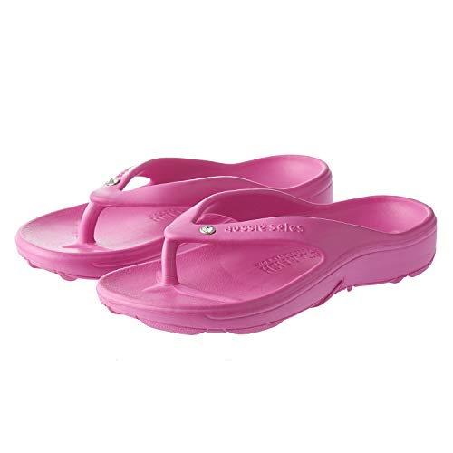 Aussie SolesTM StarfishTM Orthotic Flip Flops for Toddlers and Children - Unisex (35 / UK 2.5 - 220 mm, Fuchsia/Diamante) from Aussie Soles