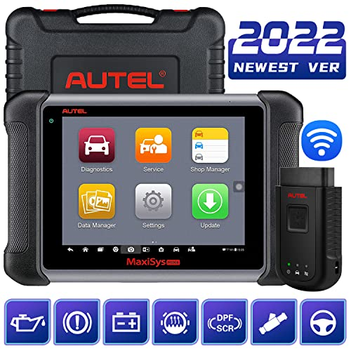 Autel Maxisys MS906BT Bluetooth Connection by VCI, Automotive Diagnostic Tool(Upgraded Version of DS708/MS906) with OE-level Diagnostics and ECU Coding Capability (English Only) from Autel