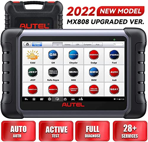 Autel MaxiCOM MK808 OBD2 Diagnostic Scan Tool with All System & Service Functions Including Oil Reset, EPB, BMS, SAS, DPF, TPMS and IMMO (MD802+MaxiCheck Pro) from Autel