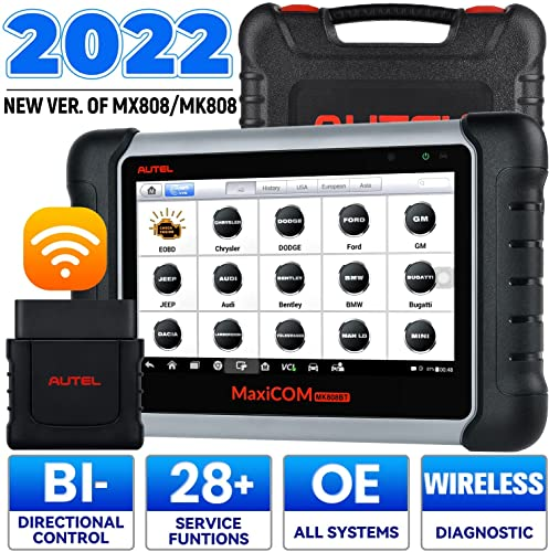 Autel MaxiCOM MK808BT OBD2 Scanner Diagnostic Tool,with MaxiVCI Supports Full System Diagnosis & IMMO/EPB/SAS/BMS/TPMS/DPF, Upgraded Version of MK808 from Autel