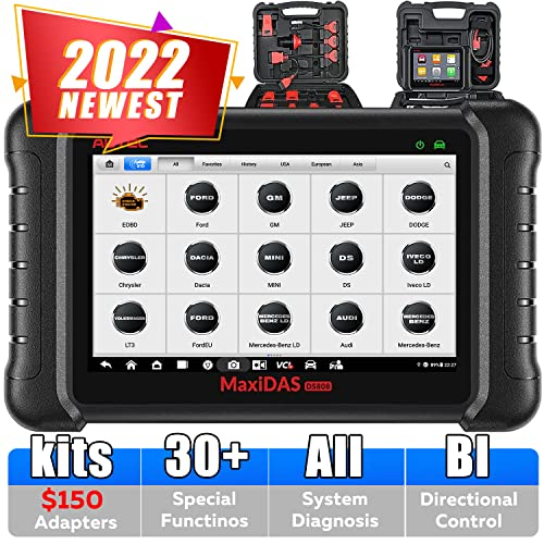 Autel MaxiDAS DS808K with Full Connect Kit (Upgraded Version of DS808, DS708) Automotive OE-Level Diagnostic Tool OBD2 Scanner Support Injector with Key Coding and Multi-language System from Autel